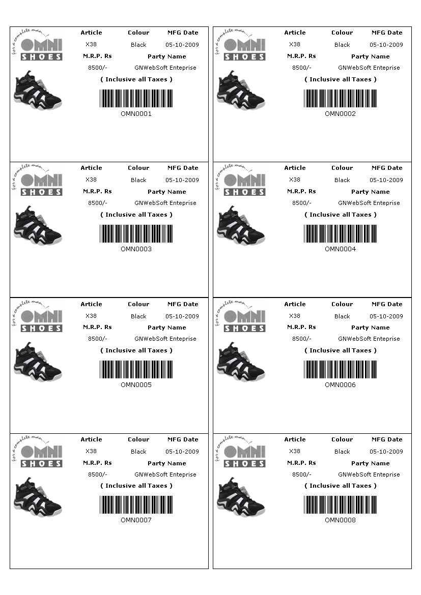 label printing software barcode printing address sticker